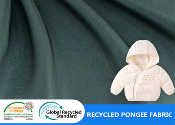 50Dx50D 100% Polyester Pongee Recycled PET Fabric For Winter Jacket Clothing